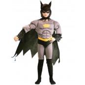 Travestimento carnevale bimbo super eroe pipistrello muscoloso *01609